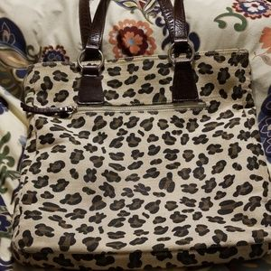 GUC Cynthia Rowley animal print handbag